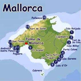 Mallorca Karte Paguera.Paguera Mallorca Landkarte